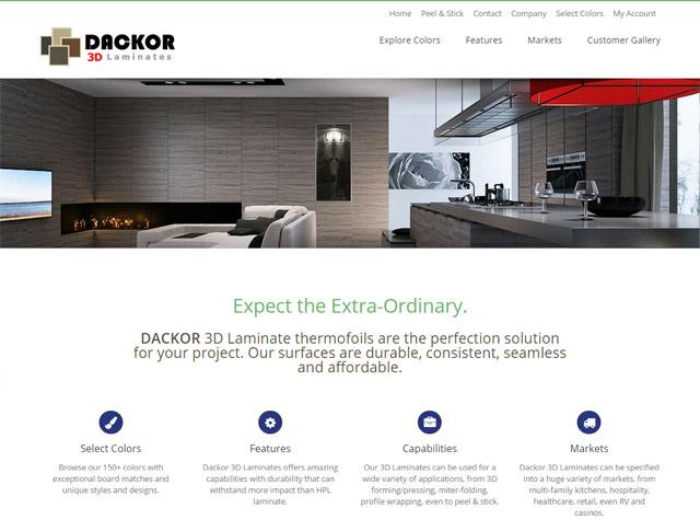 Web Design And Development Dackor 3d Laminates