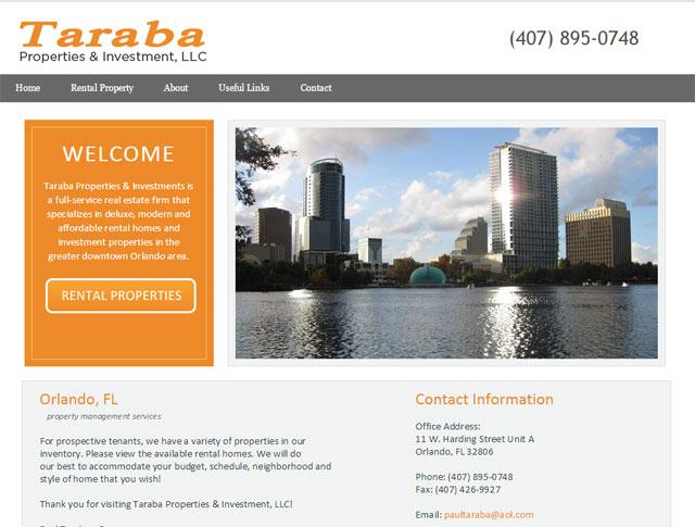 Web Design And Development Taraba Properties