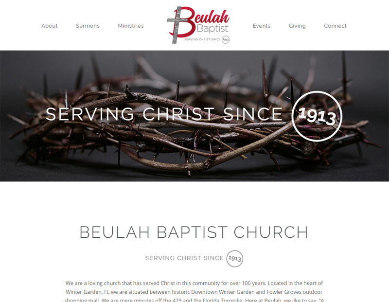 Beulah Baptist Church Website Redesign