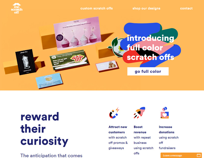 mr scratch off website redesign