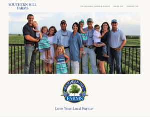 Southern Hill Farms website redesign